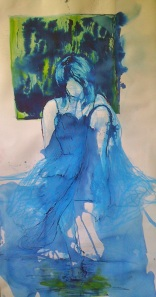 Dress Painting in Process